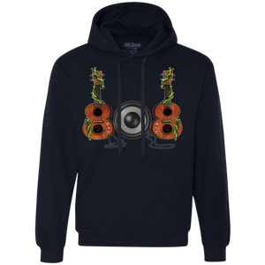 808 Ukulele Heavyweight Pullover Fleece Sweatshirt - Hawaiian Attitude