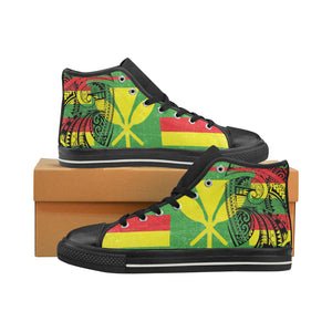 Sovereign Kakau Hi tops (mens) Men's Classic High Top Canvas Shoes (Model 017) - Hawaiian Attitude