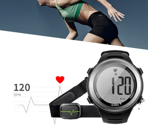New Arrival EZON T007 Men/Women Outdoor Running Digital Stopwatches (Heart Rate Monitor,Alarm Stopwatch, with Chest Strap)