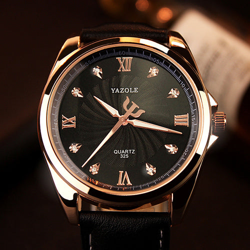 YAZOLE 2018 Top Brand Luxury Men's Diamond Quartz Wristwatches