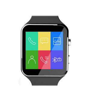 LUOKA New Bluetooth Smart Watch X6 (Sport Passometer, Camera Support, SIM Card, Whatsapp, Facebook for Android Phone)