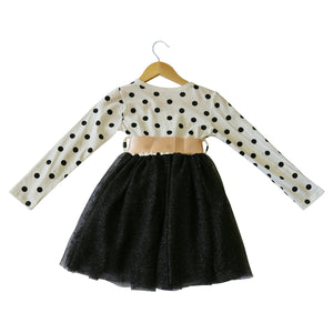Dotty Dress in White