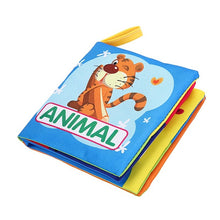 Soft Cloth Book Cartoon Animals Fruit Vegetable Numbers Vehicles Cognition Learning Baby Infant Early Educational Toy Books - KMAshopstore