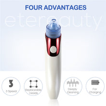ETEREAUTY Electric Facial Pore Cleanser Blackhead Removal Suction Acne Extractor Remover Rechargeable Skin Peeling Machine - KMAshopstore
