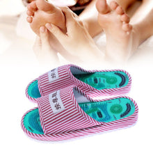 Healthy Striped Pattern Reflexology Foot Acupoint Slipper Massage - KMAshopstore