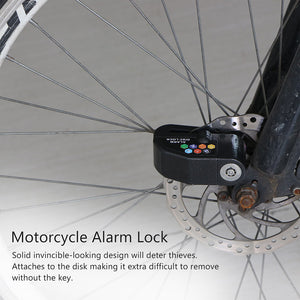 Security Motorcycle Alarm Lock Anti-theft Wheel Disc Brake Alarm Lock - KMAshopstore