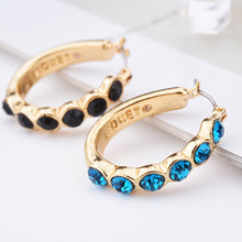 Women Fashion Crystal Rhinestone Round-shaped Earrings - KMAshopstore