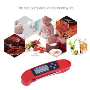 Folding Electronic Digital Thermometer instruments hydrometer Meat Food Probe Kitchen Cooking weather station temperature sensor - KMAshopstore