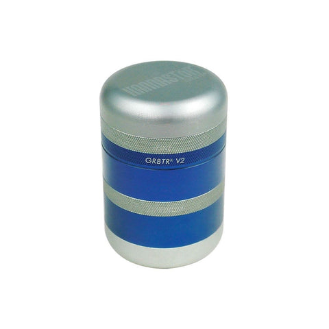 GR8TR V2 SERIES GRINDER - SOLID BODY (MATTE BLUE) - High Grade Vape