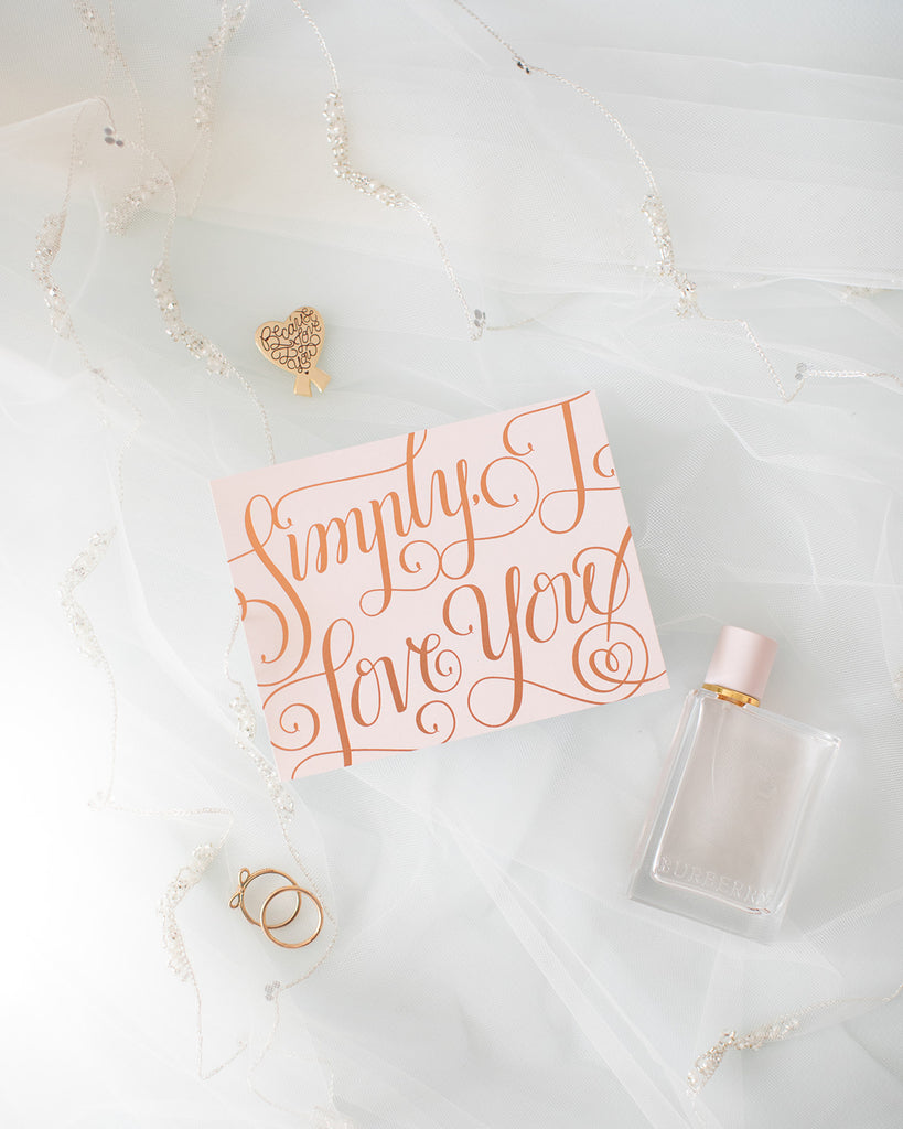 """Simply, I Love You"" Card"