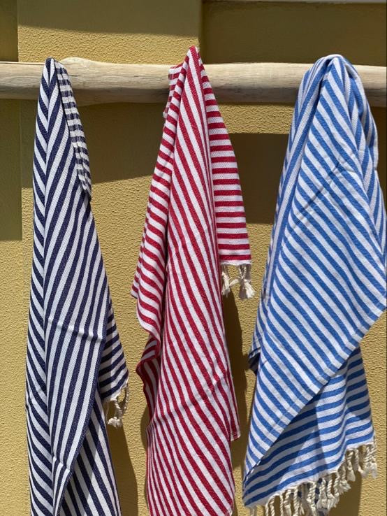 Striped Towel - Navy Blue