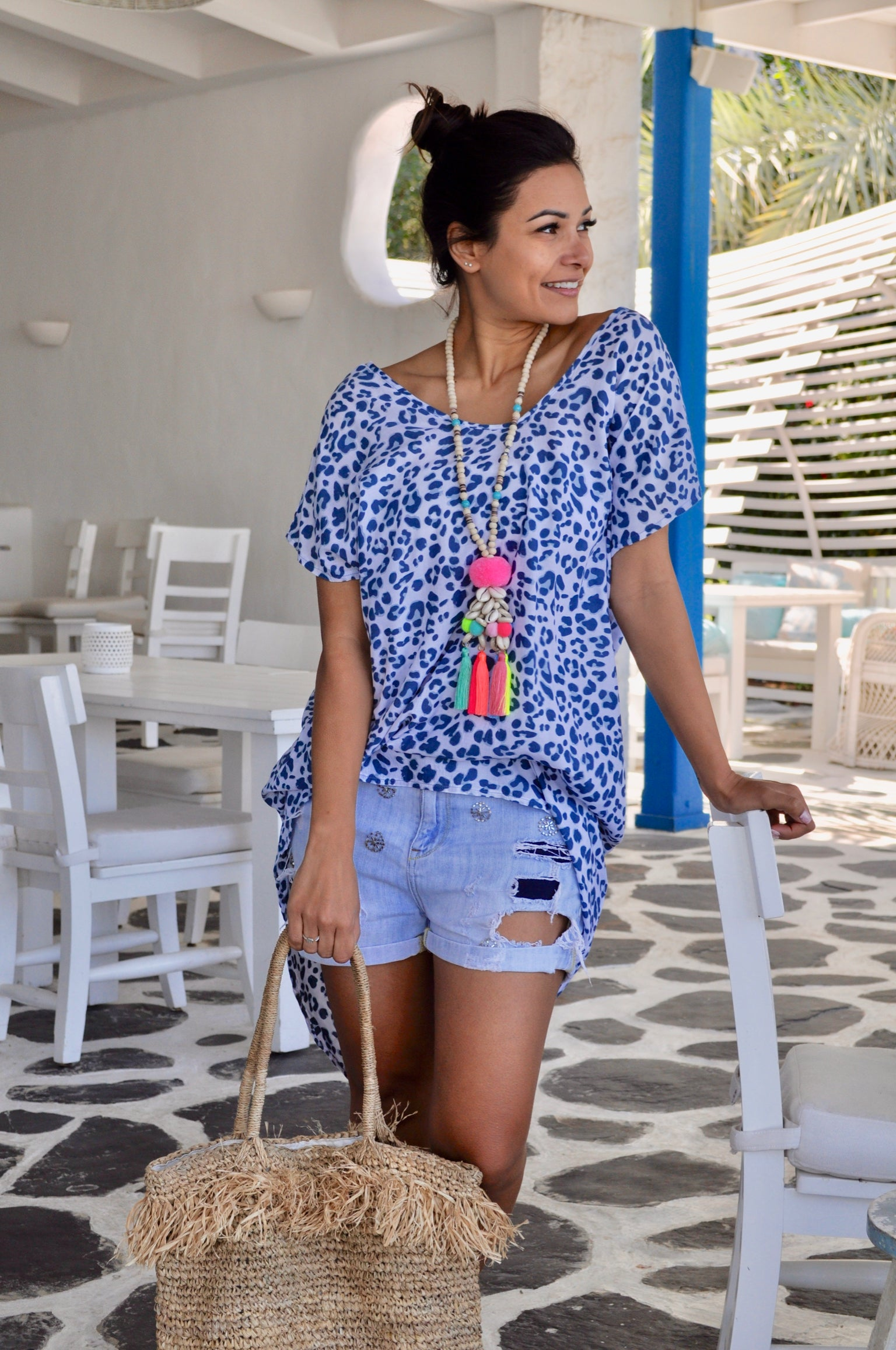 Hi-Lo Short Kaftan Top