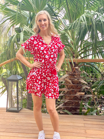 Izzy Dress - Red Flower