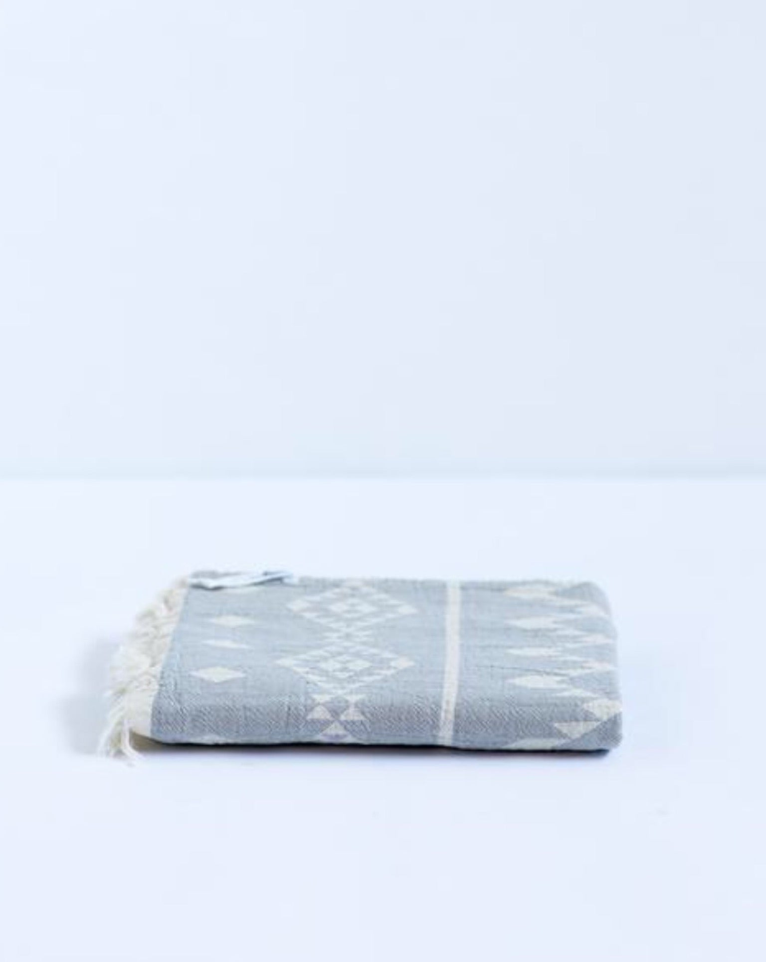 Oteki Kilim Towel - Light Grey