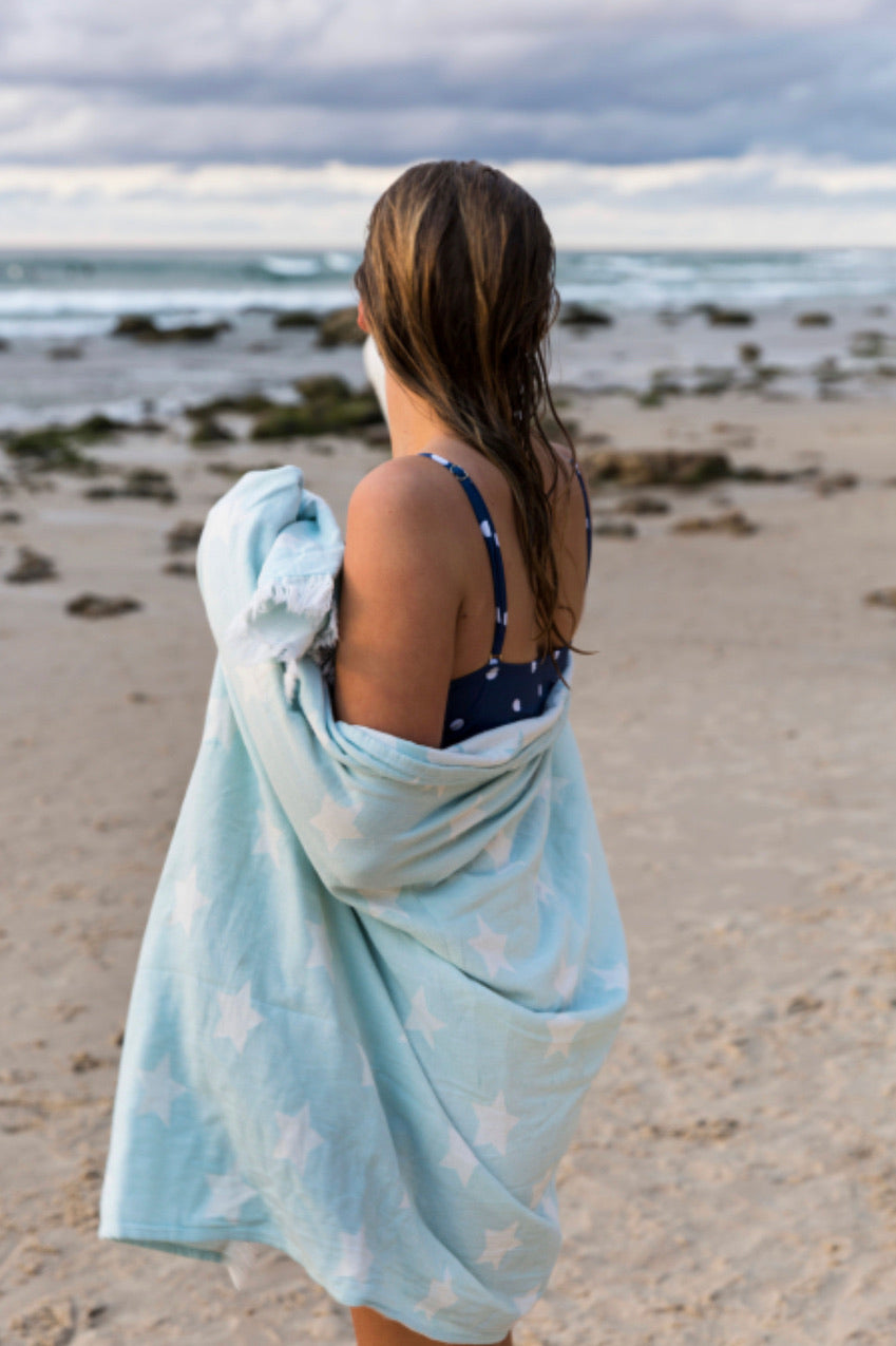 Oteki Star Towel - Pale Blue