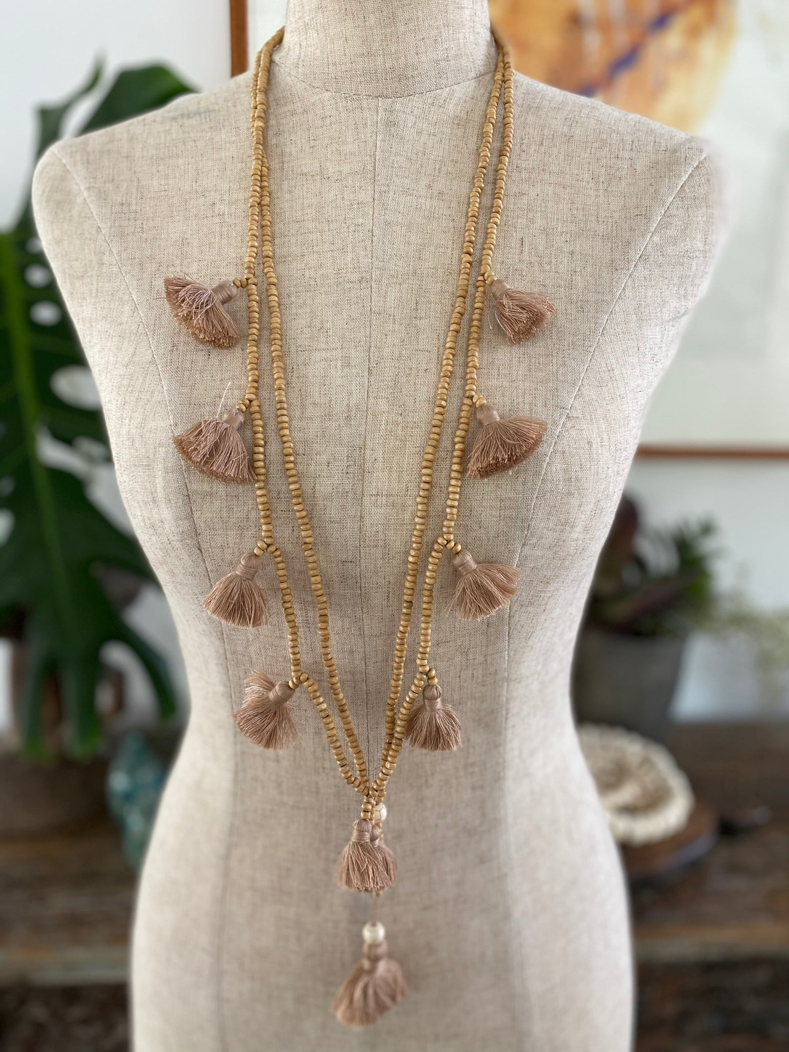 Tassel Necklace - Double Strand