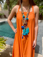 Apron Dress - Tangerine