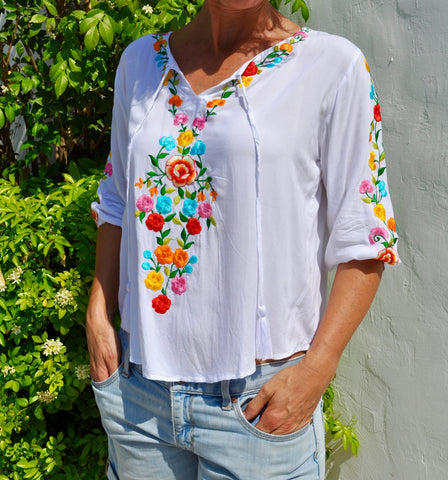 Embroidered Top - Floral