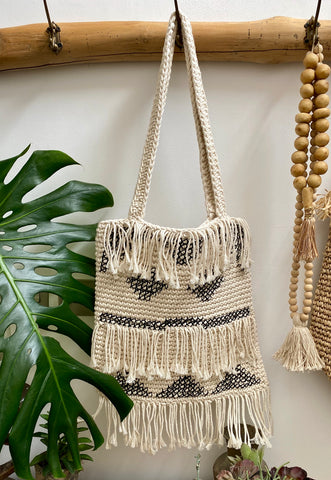 Macrame Tote Bag - Square