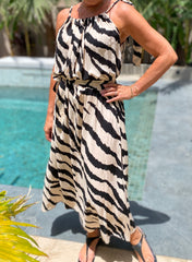 Susan Dress Long - Zebra