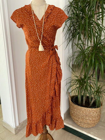 Maxi Wrap Dress - Cinnamon Spot