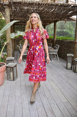 Jess Dress - Red Flower