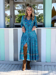 Marnie Dress - Turquoise
