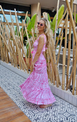 Milan Dress - Pink Tie Dye
