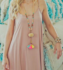 Monica Maxi Dress - Antique Pink