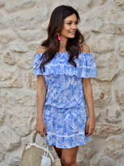Sabrina Dress - Blue Tropical