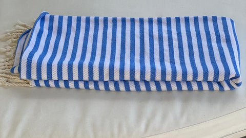 Striped Towel - Bright Blue