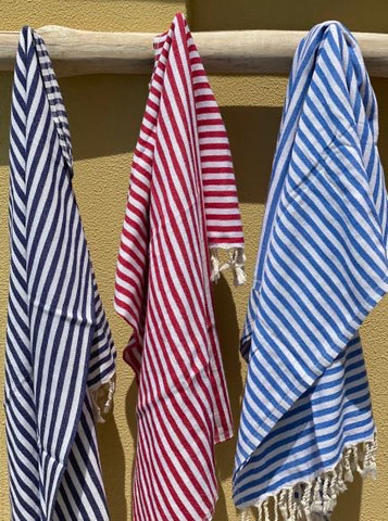 Striped Towel - Red