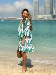 Christmas Tree Dress - Bright Green Palm