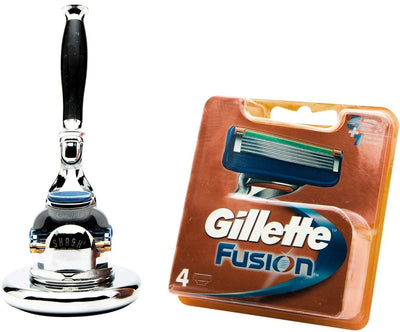 Sidney Collection Fusion Razor and Round Stand Black