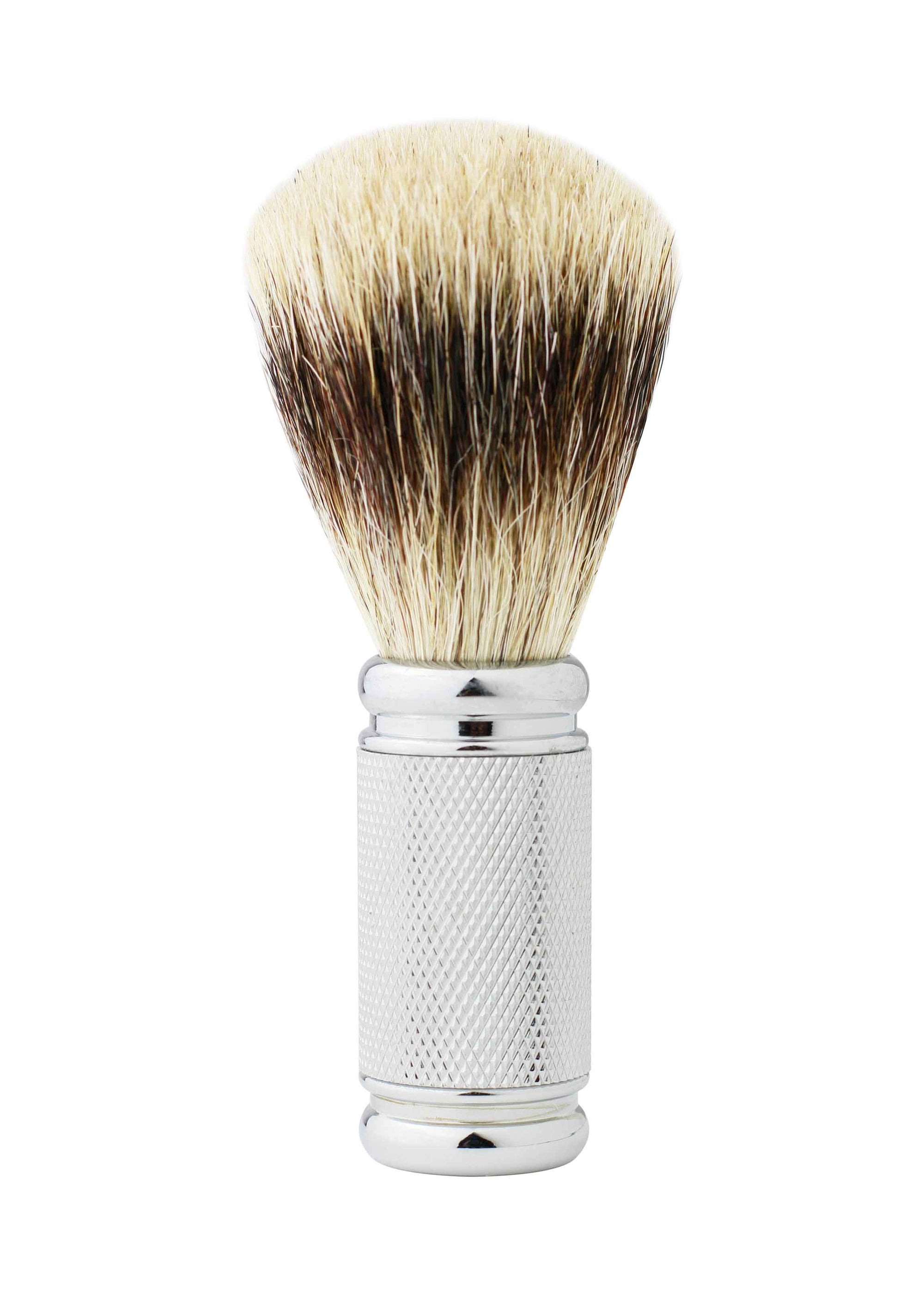 Dean Collection Pure Badger Shaving Brush Silver