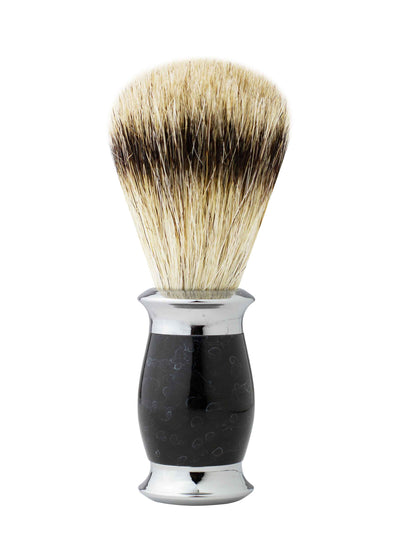 Sidney Collection Fusion Razor and Brush Set Black