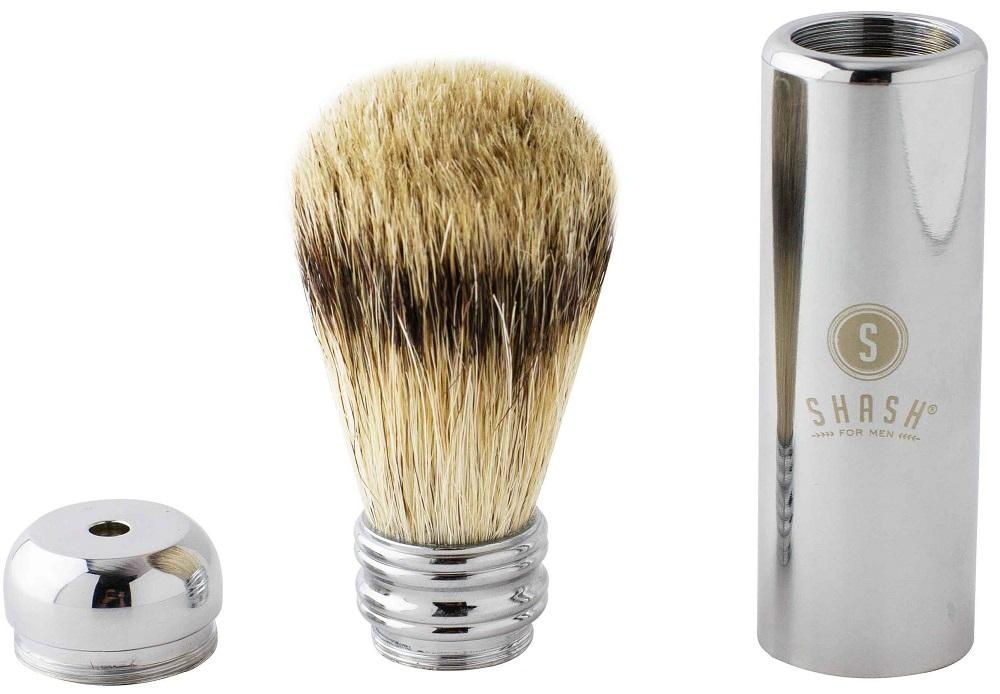 TRAVEL BEST BADGER BRUSH SILVER