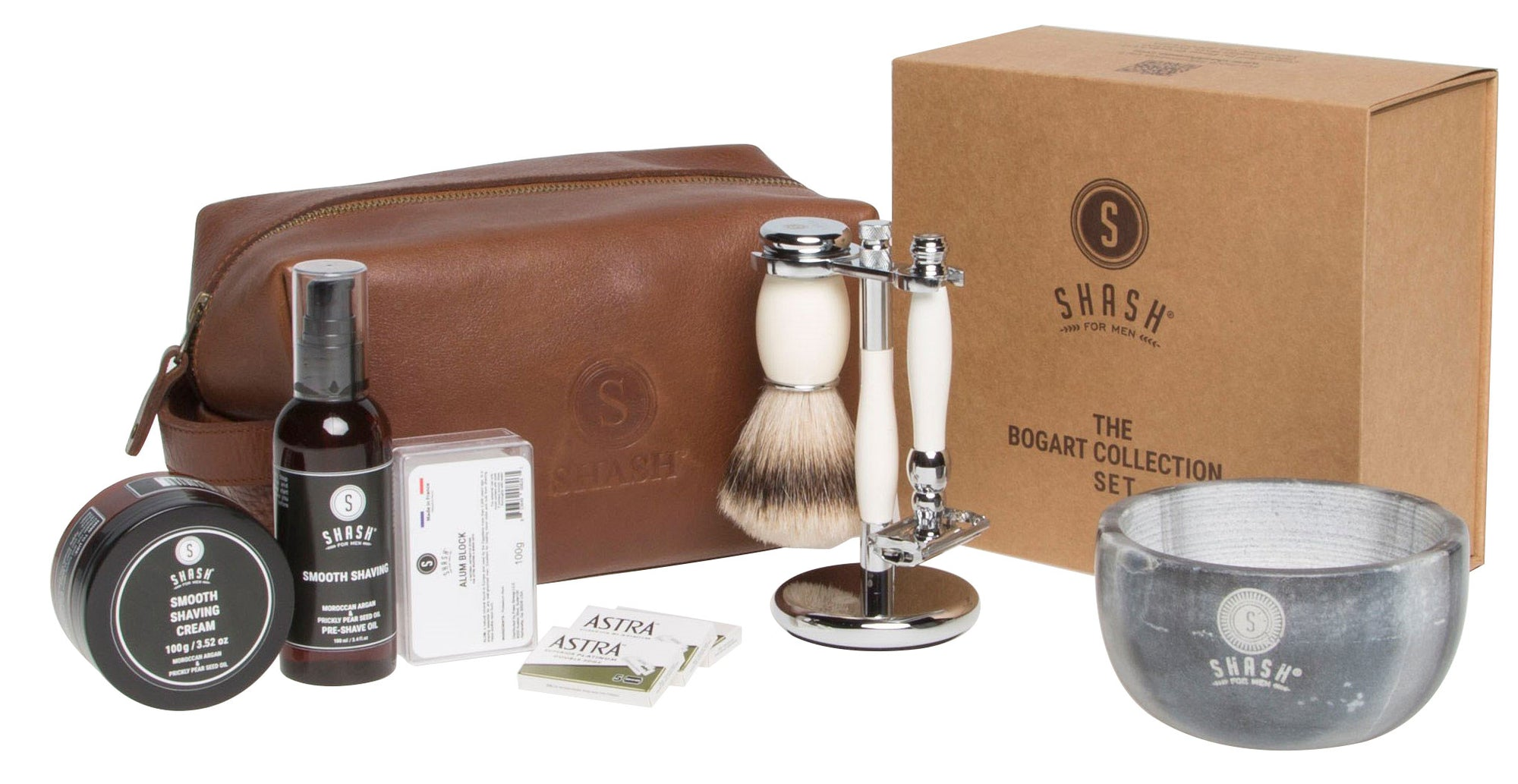 All INCLUSIVE SILVER TIP SHAVING SET