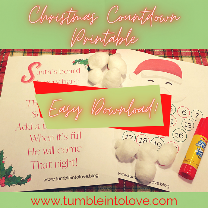 Countdown to Christmas Activity Printable - Tumble into Love