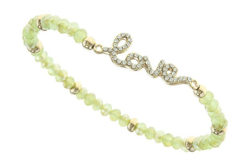 Sparkle and Shine Love Beaded Bracelet - Tumble into Love