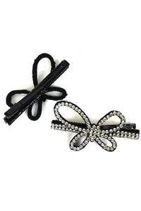 Holiday Rhinestone Soft-Slide Hair Clips - Tumble into Love