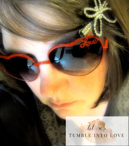 Spring into Love Heart Shaped Sunglasses in Red/Gold/Silver - Tumble into Love