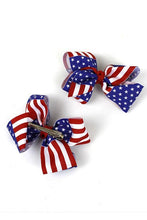 "Patriotic 3.75"" Bow with Alligator Clip (set of 2) - Tumble into Love"