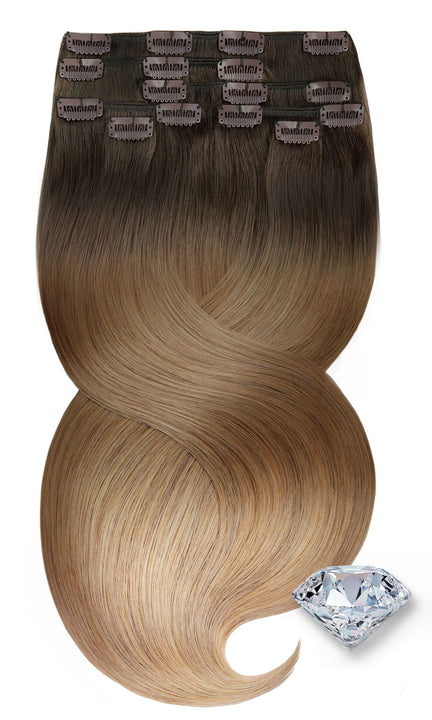 CLIP-IN EXTENSION PURE DIAMONDS LINE Dark Blond