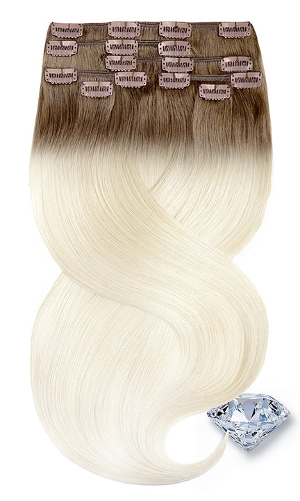 CLIP-IN EXTENSION PURE DIAMONDS LINE Shadowed Blonde