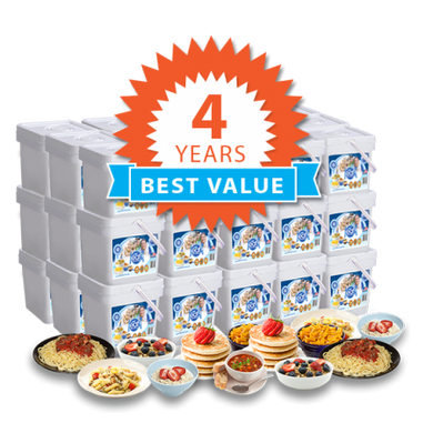 4 Year Long Term Food Storage