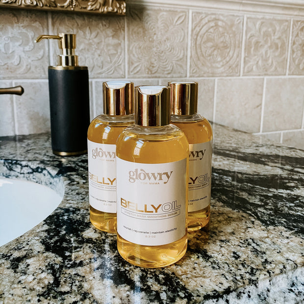 GLOWRY FOR MAMA BELLY OIL TRIO LUXE SET