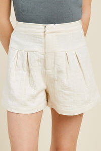 Tween Off White Linen Short