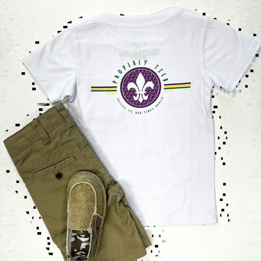 Properly Tied SS Mardi Gras Tee