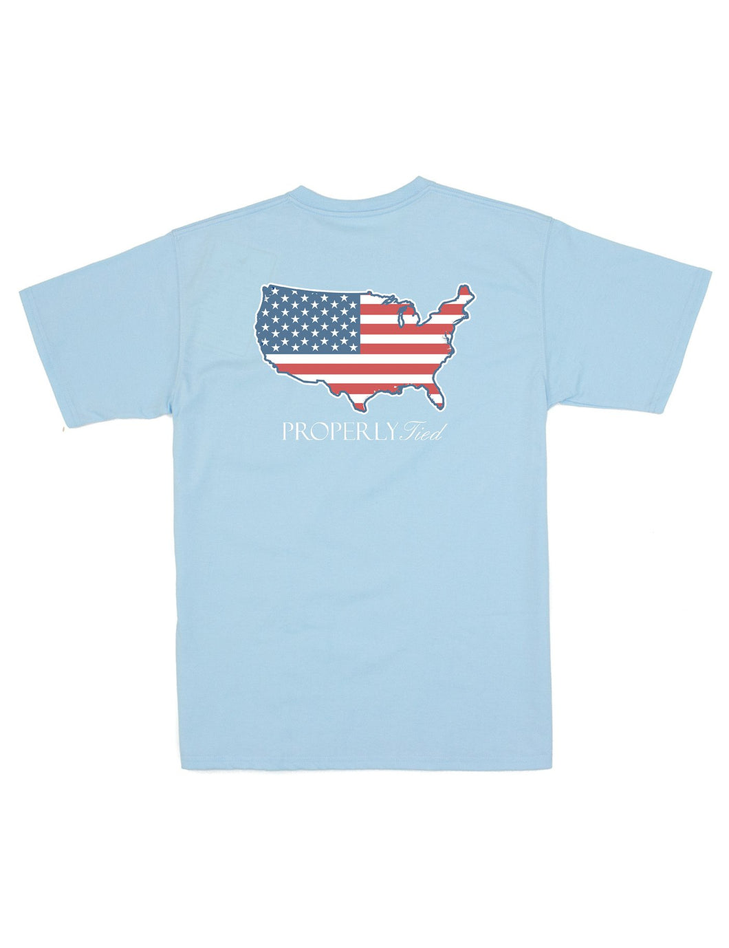 LD OLD GLORY SS POWDER BLUE